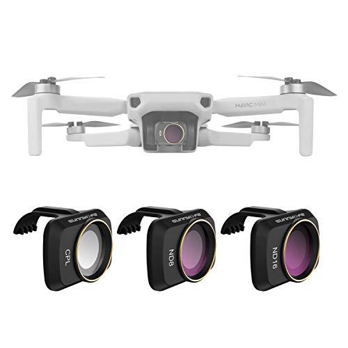 Lens Filter Set CPL ND8 ND16 for DJI Mavic Mini/Mini 2 Drone 3pcs Lens Filter Set Multi Coated Filters Combo Camera Lens