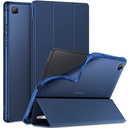 INFILAND Funda para Samsung Galaxy Tab A7 10.4 2020, TPU Suave Funda Transparente para Galaxy Tab A7 10.4 Pulgadas (T500/T505/T507) 2020, Azul Oscuro