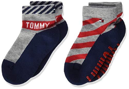 Tommy Hilfiger Baby-Jungen TH 2P BOLD Socken, Mehrfarbig (Tommy Original 085), (Herstellergröße: 23-26) (2er Pack)