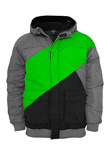 TB435 Zig Zag Fastlane Jacket Herren Winter Jacke Kapuze, Größe:S;Farbe:grylgrblk