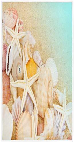 Seashell Starfish Sand Beach Ocean Toalla de impresión Personalizada 27,5' x15,7 Toalla de Cara Suave Absorbente Toalla de baño de Cocina para el hogar Toalla para Invitados