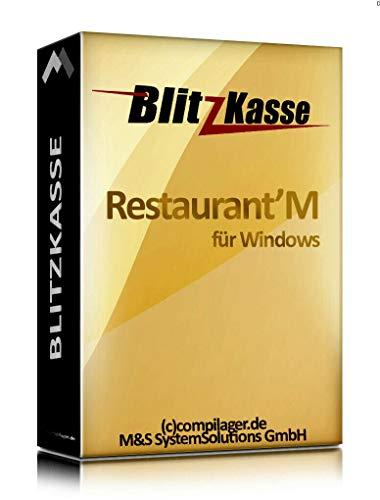 WIN Kassensoftware BlitzKasse Restaurant M für Gastronomie. 50 Tische, 2 Drucker. GDPdU, GoBD, TSE KONFORM