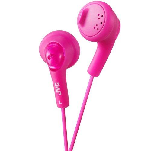 JVC Gumy HA-F160-P-E In-Ear Kopfhörer Stereo-Kopfhörer mit Bass Boost und 3,5mm Klinkenkabel (1,2m) - Pink