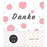 12 moderne Dankeskarte, Dankeskarten, Dankeschön Karten, Danksagungskarten Konfirmation Hochzeit,...