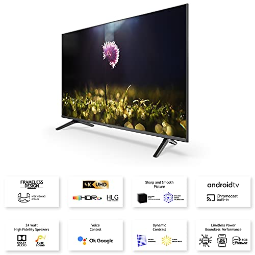 Acer 125.7 cm (50 inches) Boundless series 4K Ultra HD Android Smart LED TV AR50AP2851UDFL (Black) (2021 Model) |With Frameless Design