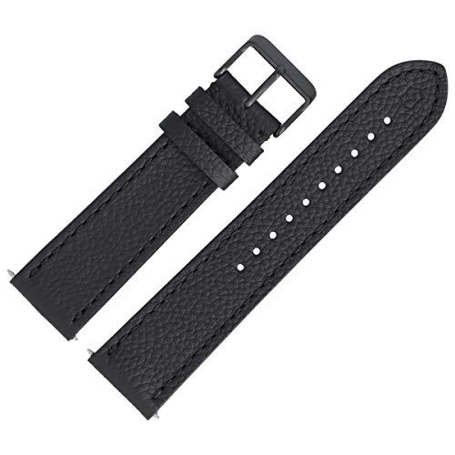Victorinox Uhrenarmband 22mm Leder Schwarz Struktur - 005544