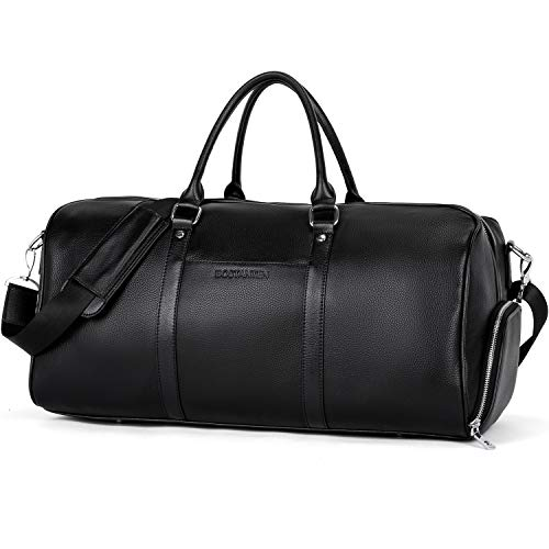BOSTANTEN Genuine Leather Duffle Bag for Men Travel Overnight Gym Sports Luggage Duffel Bags