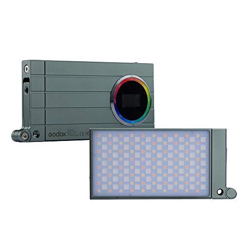 Godox M1 RGB Luz LED de Video en cámara, CRI 97 TLCI 97, Ajustable de 2500 a 8500K, Modo RGB con 360 Colores, 15 Efectos Especiales y 40 preajustes, con Soporte de Montaje articulado