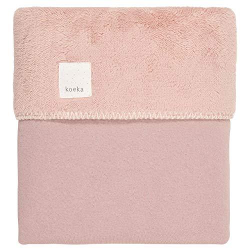 Koeka - Bettdecke Teddyfutter Für Babywiege Und Babykorbe Runa - Babydecke Aus Baumwolle - - Pink - 75X100 Cm