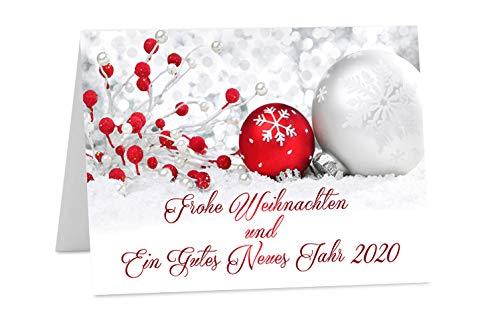 Tarjetas de Navidad con sobres, DIN A6 o A5 Año Nuevo 2019 Pack of 10 (A6 size): Amazon.es: Oficina y papelería