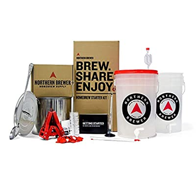 Brew. Share. Enjoy. Homebrew 5 Gallon Beer Brewing Starter Recipe Kit and Brew Kettle