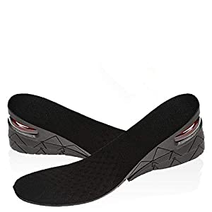 SKUDGEAR Heightening Shoe Insoles Adjustable Shoe Lift Inserts Breathable Pads for both Men and Women (1 Pair) – (3layer…