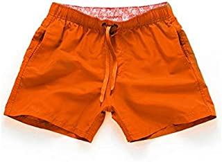 YEONUW Men Swimsuit Mens Swimming Shorts Quick Drying Swim Trunks For Men Swimwear Men Swimwear Sunga Surf Boxer Briefs Zwembroek Heren (Color : Orange, Size : L)