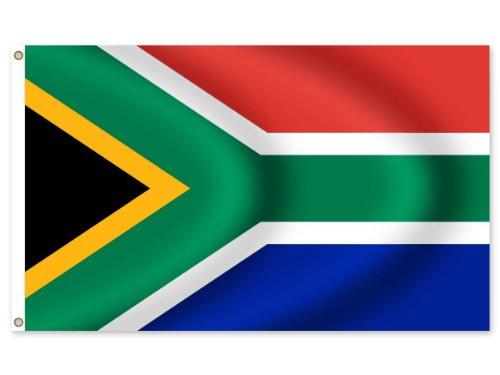 Alsino Länder Flaggen Fahnen zur Fußball WM Maße 90x150 cm, Land wählen:FL-16 Südafrika