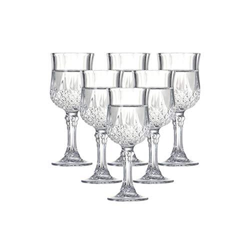 Agnus Juego de 6 Vasos de Medida Hecha a máquina Licor de Cristal for el Vodka Mini Copas de Vino Cubilete Bebidas espirituosas 100 ml / 3,5 oz
