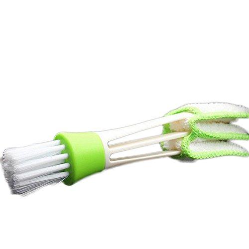 Cdet Cepillo de Limpieza Multi-función de Doble Cabeza Cepillo de Limpieza Aire Acondicionado Salida Cepillo de Limpieza