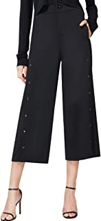 Ginasy Women's Casual Loose Trousers Wide Leg Pants High Waist Flowing Palazzo Pants