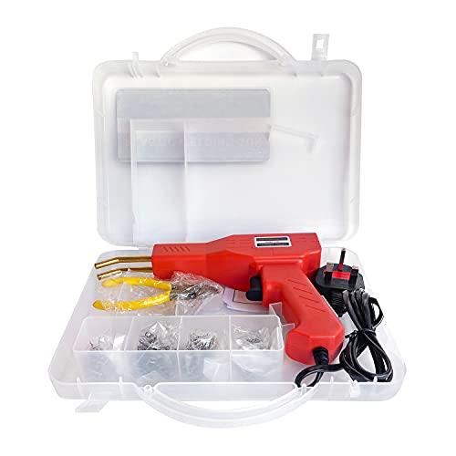 Hot Tackler Kunststoff-Schweißgerät – 50 W Kunststoff-Schweißer, Auto-Stoßstangen-Riss--Set für die Entfernung von Dellen, mit 4 Arten von Schweißklammern (Schweißer-Set)
