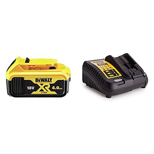 Dewalt DCB182-XJ Batería Carril XR 18V Li-Ion 4, Negro y Amarillo + DEWDCB115Baterías y Cargadores