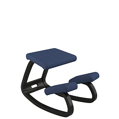 Varier Variable Ergonomischer Sitz, Holz, 72x 52x 51cm 72x52x51 cm blau