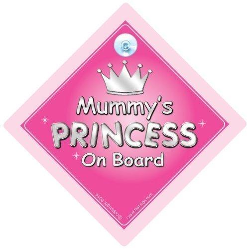 Momie de Princesse Sur le Board, Princesse sur planche, Princesse Sign, mère, maman, voiture Panneau, panneau bébéà bord, bébéà bord, nouveauté voiture Panneau, signe pour voiture (725)