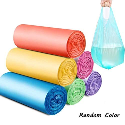 M-TOP Bolsas Basura Biodegradables 30 litros, Bolsas Plastico Asas Decoradas, Bolsas Basura...