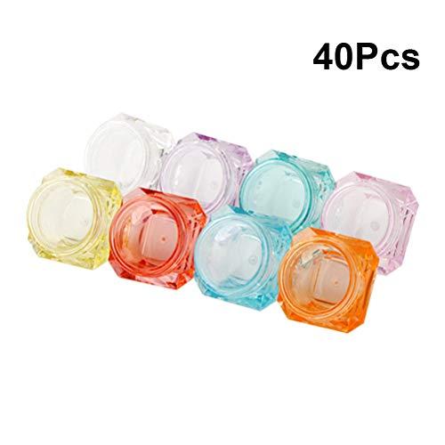 Lurrose 40pcs 5g Contenants de cosmétiques en plastique pour pots de plastique portables Mini bouteilles de voyage Bocaux de maquillage pour femmes