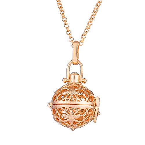 Preisvergleich Produktbild Ätherisches Öl Diffusor Halsketteschmetterling Mit Blume Aromatherapie Ätherisches Öl Halskette Qin Yinzhu Halskette-C
