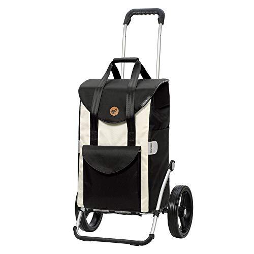 Andersen Einkaufstrolley Royal mit 3-Speichenrad und Einkaufstasche Senta weiß 49 Liter