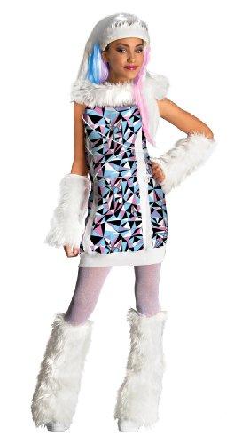 COOLMP Déguisement Abbey Bominable Monster High Fille - Taille 5 à 7 Ans - Déguisement pour Enfant, garçon et Fille, Anniversaire, Carnaval