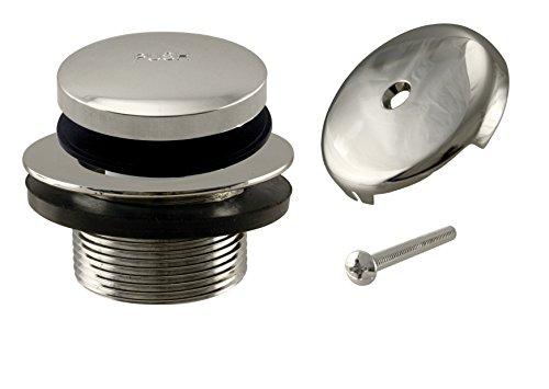 Westbrass R93–05Tip-Toe repuesto Tub juego de tapacubos con one-hole rebosadero placa, níquel pulido