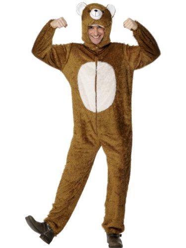 "Smiffys Men's M-US Size 38""-40"" Bear Costume, Brown"