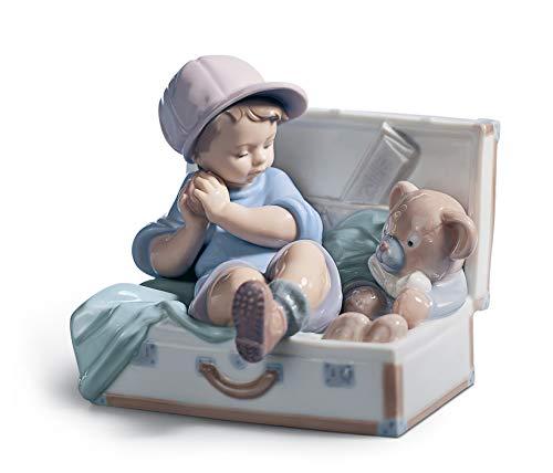 LLADRÓ My Favourite Place Boy Figurine. Porcelain Boy Figure.