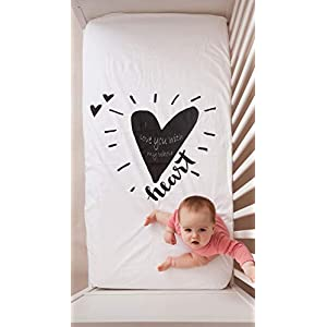 Luv Bug Little Dreamer Waterproof Crib Sheet and Mattress Protector – Baby to Child   Soft, Breathable and 100% Waterproof