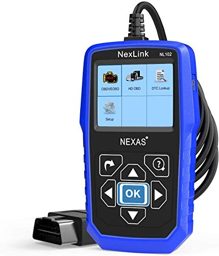 Heavy Duty Truck Scanner NL102 OBD/EOBD+HDOBD Diagnostic Scanner Scan Tools Engine ABS Transmission Check Trucks & Cars 2 in 1 Codes Reader