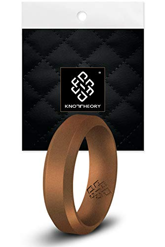 Knot Theory Copper Bevel Comfort Fit Silicone Ring for Men and Women 8mm Size 10