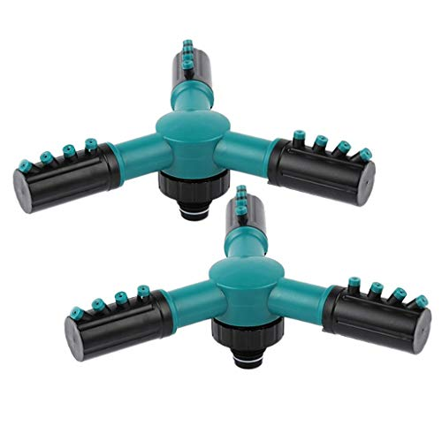 non-brand Automatischer Sprinkler Sprenger Düse Bewässerung Werkzeug mit 3 Propeller Typ für Rasen und Feld, aus Kunststoff
