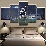 ZXCFGH 5 Stücke Leinwanddruck Real Madrid Stadium Foodball