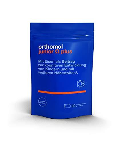 Orthomol junior Omega plus 30er - Kinder Nahrungsergänzungsmittel für die Entwicklung - Vitamine & Omega 3 Fettsäuren