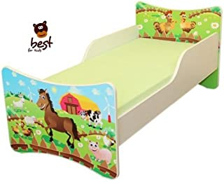 Best For Kids CHILDREN S BED with foam mattress with T V CERTIFIED 80x200 FARM