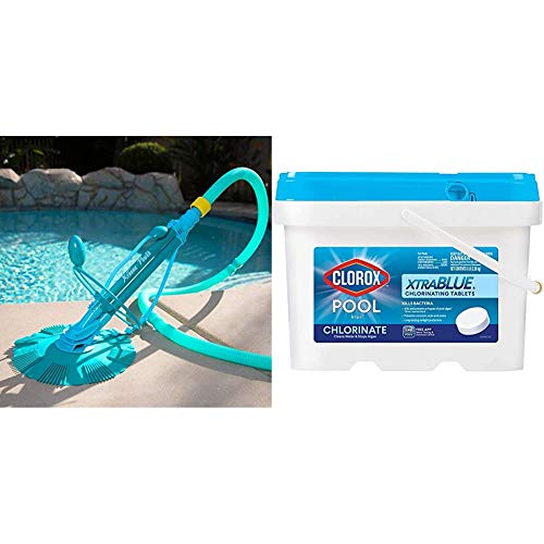XtremepowerUS 75037 Climb Wall Pool Cleaner Automatic Suction Vacuum-Generic, Blue & CLOROX Pool&Spa...