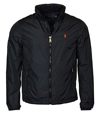 Polo Ralph Lauren Men's Nylon Hooded Windbreaker Jacket - L - Black from