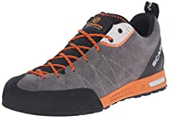 Sticky Rubber sole provides excellent grip Suede upper for durability and comfort Lace-to-toe design for performance fit Dual density EVA sole Rubber toe rand for superior abrasion resistance