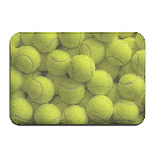 Palline da Tennis Zerbino Esterno in Gomma zerbini Anteriori Portico Garage Grande Tappeto Antiscivolo Ingresso Tappeto Standard casa 40x60 cm
