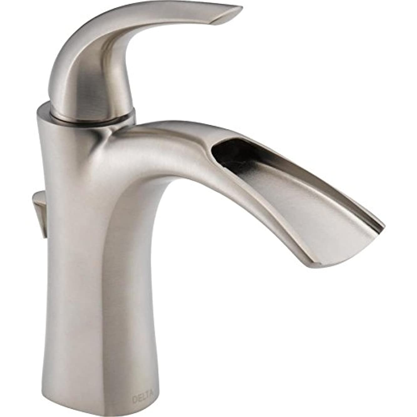 Delta Nyla Stainless 1-Handle Single Hole WaterSense Bathroom Faucet Drain Included