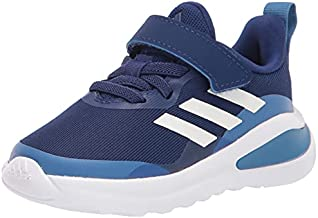 adidas Kids Fortarun Elastic Running Shoe, Victory Blue/White/Focus Blue, 7 US Unisex Toddler