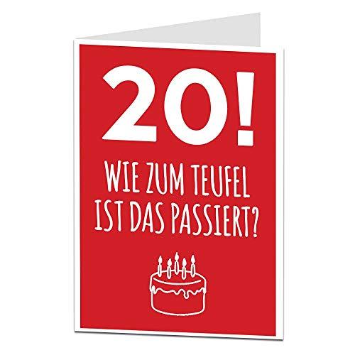 LimaLima Sarkastische 20. Geburtstagskarte Lustige Geburtstagskarten perfekt für Sohn & Tochter Cousin Nichte Neffe Sarkastische Grußkarte 20. Geburtstag