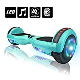 Electric Smart Self Balancing Scooter Hoverboard LED Wheels Side Lights- UL2272 Certified (-White (No Bluetooth))