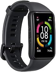 HONOR Band 6 Smart Watch SpO2 e cardiofrequenzimetro, Braccialetto attività Intelligente con Monitor del Sonno, Tracker Esercizi, Nero