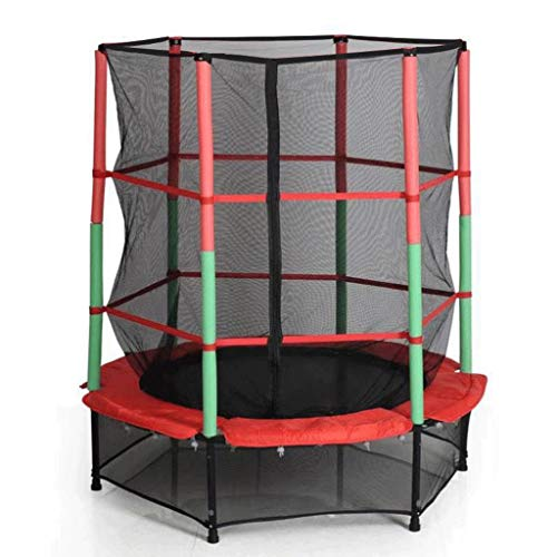 55' Trampoline for Kids - 4.6 ft Outdoor & Indoor Mini Toddler Trampoline with Enclosure, Birthday Gifts for Kids, Gifts for Boy and Girl,Age 1-8